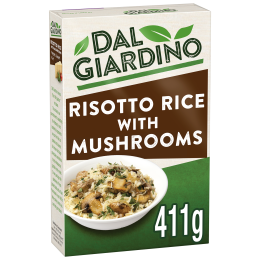 Packshot of Dal Giardino Risotto Rice with Mushrooms